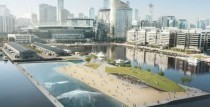 Surfing in the city: Melbourne CBD wave pool floated